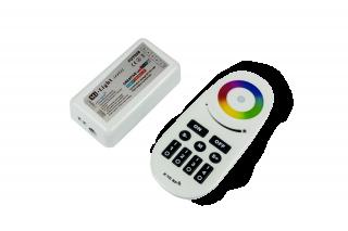 STEROWNIK PILOT + ODBIORNIK DO TAŚM DIODOWYCH LED RGBW V2 6013