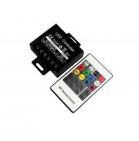 PD026050 (STEROWNIK DO TAŚM DIODOWYCH LED RGB 20-KEY (RF) 20A)