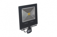 LAMPA LED ZEWNĘTRZNA PŁASKA NEXTEC Z CZUJNIKIEM RUCHU 50W 3000lm 230V Biały Zimny